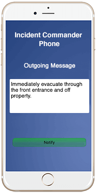 EUAlert!™ report an emergency screen