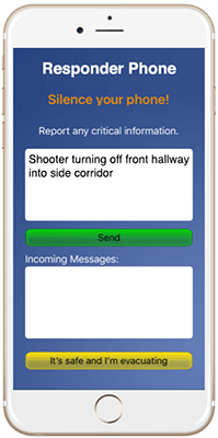 EUAlert!™ initial reporting screen