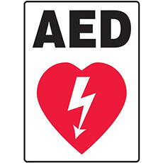 AED Flat Wall Sign